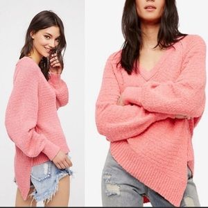 Free People Pink West Coast Sweater S